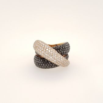Picture of Black Diamond - 3 Row Pave Band