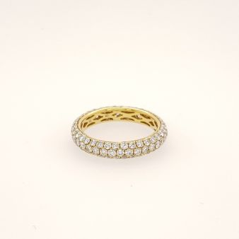 3 Row Pave Eternity Ring
