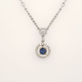 Picture of Blue Sapphire Necklace