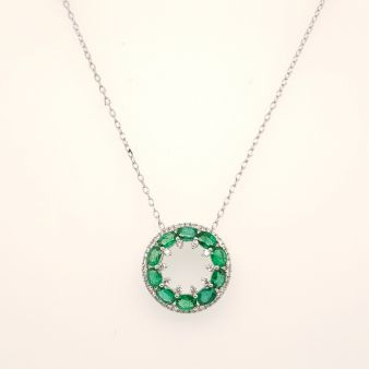 Picture of Round Emerald Pendant