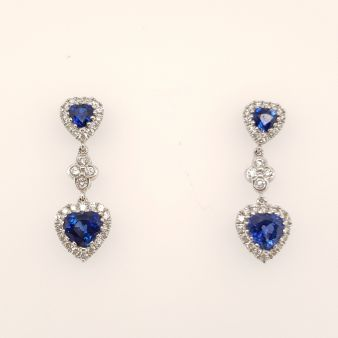 Picture of Sapphire Dangle Stud Earrings