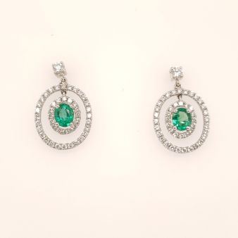 Picture of Emerald Dangle Earrings