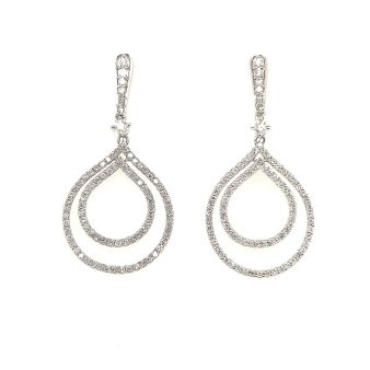 Picture of Dangle Diamond Top Earrings