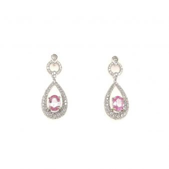Picture of Pink Sapphire Earrings
