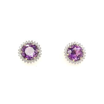 Picture of Amethyst Stud Earrings