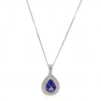 Picture of Tanzanite Teardrop Pendant