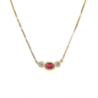 Picture of Ruby Bezel Set Necklace