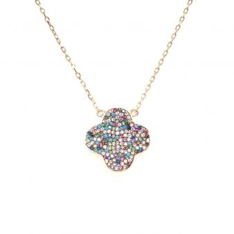 Picture of Multi Gem Clover Pendant