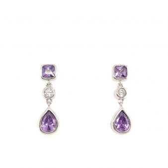 Picture of Purple Dangle Earrings