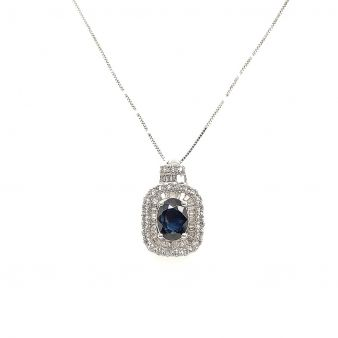 Picture of Oval Blue Sapphire Pendant