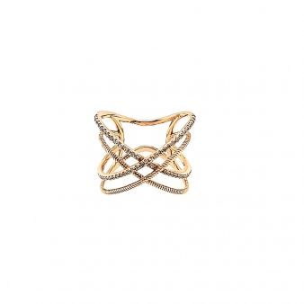 "Picture of Double ""X"" Twist Claw Design Ring"