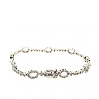 Picture of Oval Link Tennis Bracelet