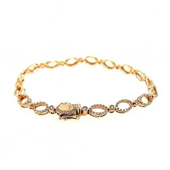 Picture of 18 Prong Oval Link Bracelet