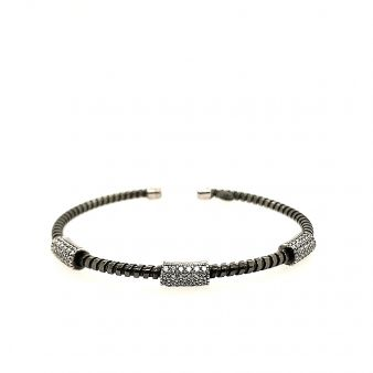 Picture of 3 Pave Bar Bangle