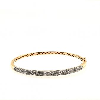 Picture of 5 Row Pave Hinged Bangle