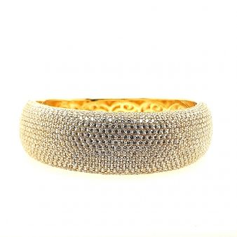 Picture of Wide Paved Set Hinged Bangle