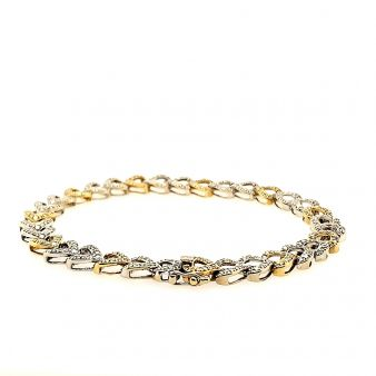 Picture of Heart Link Tennis Bracelet