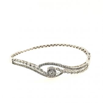 Picture of Claw Set Diamond Bangle
