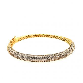 Picture of 5 Row Pave Set Hinged Bangle