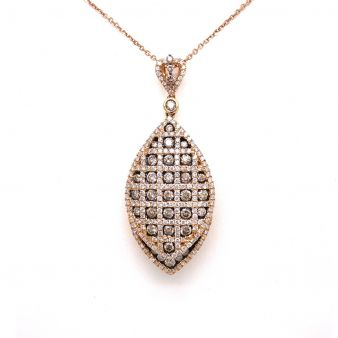 Diamond Rose Gold Pendent With Chain