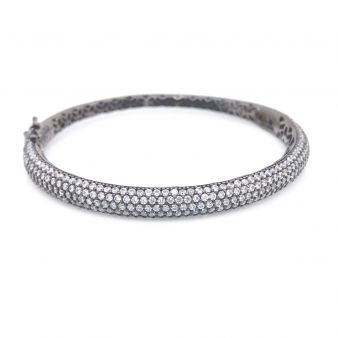 Picture of Black Rhodium Plated Hinged Bracelet