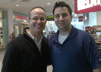 Hillel Berkovits of Omni Jewelcrafters with Alex Anthopolous - General Manager of Toronto Blue Jays.
