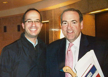 Governor of Arkansas and Republican Presidential Candidate Mr. Mike Huckabee and Hillel Berkovits