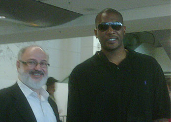 Proud Torontonian and Centre for the Miami Heat, Jamal Magloire, with Mr. J. Berkovits