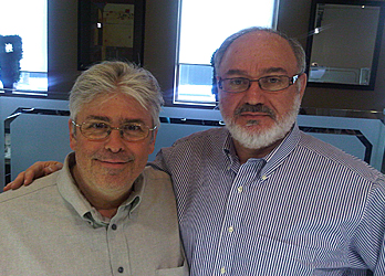 Jerry Agar of Newstalk1010 and of Toronto Sun, visiting Mr. Jack Berkovits at Omni Jewelcrafters